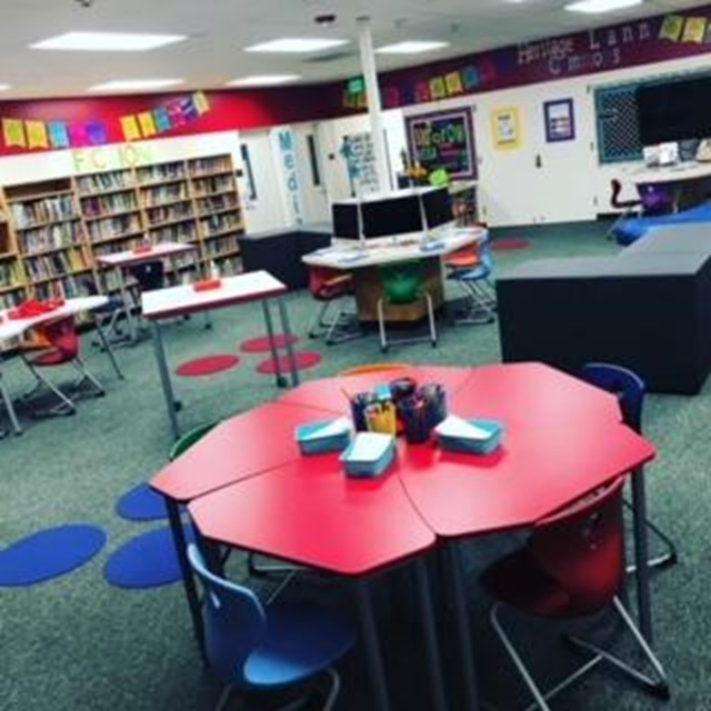 The newly improved Heritage Learning Commons provides an array of flexible seating.