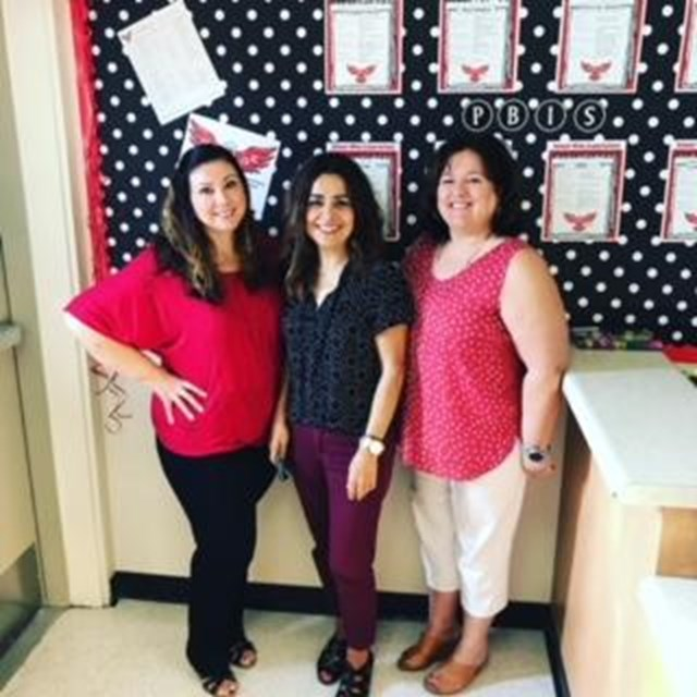 These lovely ladies contribute to our school's Positive Behavioral Intervention Support system. Thank you for your efforts!